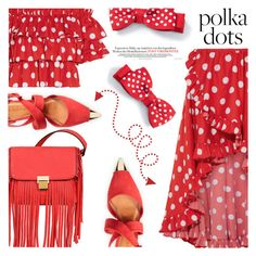 """Polka Dots"" by shoaleh-nia ❤ liked on Polyvore featuring Caroline Constas, Carrano and Mellow World"