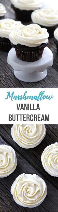 Marshmallow Vanilla Buttercream Frosting
