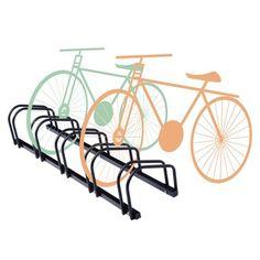 ZNL Fahrradständer für 5 Fahrräder Fahrrad Ständer Rad Fahrradparker Bike CFA03