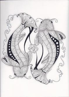 Zentangle Koi Pond