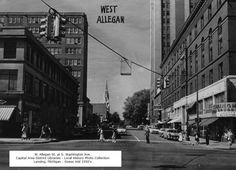 https://flic.kr/p/Ftw5Xb | Allegan St. at Washington Ave.-guess 1950's-from Lansing Downtown FB page-MI