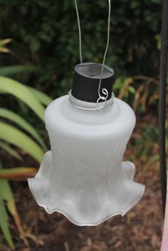 Hanging Solar Light by WhiteBarnCreations on Etsy, $22.00