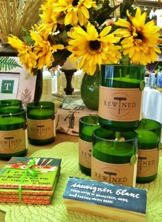 Rewined Candles from Charleston, SC are handcrafted from recycled wine bottles using premium soy wax with long lasting scents that mimic the flavors & aromas of your favorite wines