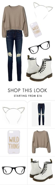 """Mahogany Lox Style"" by wilkycolors ❤ liked on Polyvore featuring beauty, Candie's, Frame Denim, Sonix, Muse and Dr. Martens"