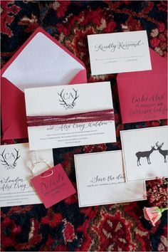winter wedding invitations #weddinginvites #winterwedding #weddingchicks http://www.weddingchicks.com/2014/02/26/cozy-winter-wedding-ideas/