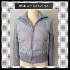 Spotted while shopping on Poshmark: FLASH SALEBCBG MAXAZRIA Down / Knit Coat! #poshmark #fashion #shopping #style #BCBGMaxAzria #Jackets