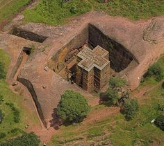 Rock-Hewn Churches Of Lalibela ~ How were these amazing churches created? These amazing structures are attributed to Lalibela, one of the most famous rulers of Ethiopia's Zagwe Dynasty, who reigned in the 12th century. According to an Ethiopian legend, God instructed Lalibela to build the unique churches; the structures were built with the help of angels. King Lalibela, who was poisoned by his brother and fell into a three-day coma, was taken to Heaven and given a vision of a rock hewn city.