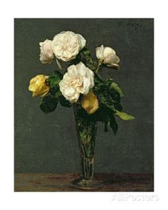 Roses in a Champagne Flute, 1873 Giclee Print by Henri Fantin-Latour at AllPosters.com