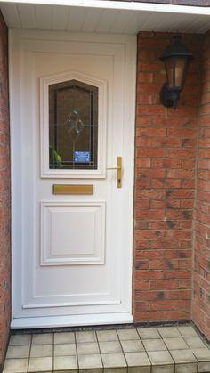 A bland front door (before)