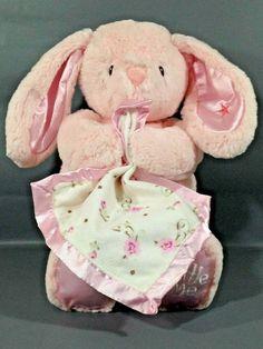Pink Bunny Girl Rabbit Plush Kids Preferred Little Me Baby Lovey Pink Rabbit, Baby Lovey, Lovey Blanket, Rottweiler Dog, Bunny Plush, Pink Daisy, Pink Elephant, Security Blanket, Baby Safety