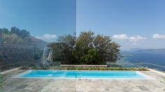 Private swimming pool over the sea at The Atrium Villas