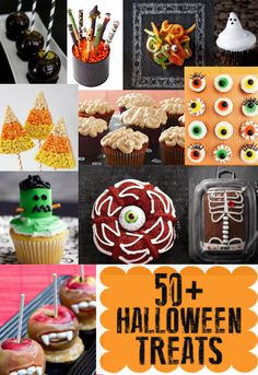 50+ Halloween Treats - An awesome collection of spooky treats perfect for Halloween!! #halloween #treats