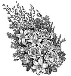 Amazingly Exquisite Free Printable Coloring Pages Of Flowers Adult Rose