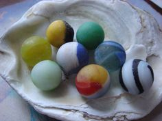 Sea glass marbles