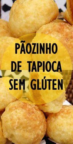Receita de Pãozinho de tapioca (sem glúten). Que tal um pãozinho diferente de tapioca e ainda não leva glúten? Veja e faça em casa!