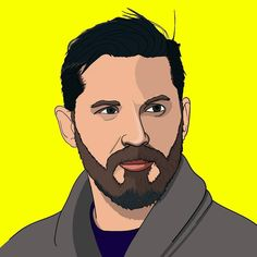Tom Hardy, i had quite alot of problems during the making of this one, illustrator were lagging and it crashed 3 times so for the video that comes out either tomarrow or friday you might see it stop sometimes and thats the reason why.  #tomhardy #actor #illustrator #digital #digitalart #adobe #adobeillustrator #yellow #drawing #coat #video #youtube #venom #bane #madmaxfuryroad #movies #celeb #portrait