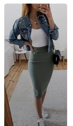 Casual Dress Outfits, Mode Outfits, Classy Outfits, Stylish Outfits, Fashion Outfits, Womens Fashion, Skirt Outfits, Elegantes Outfit Damen, Look Fashion