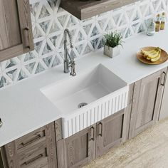 MR Direct Farmhouse Apron Front Fireclay 30 in. Single Bowl Kitchen Sink, White