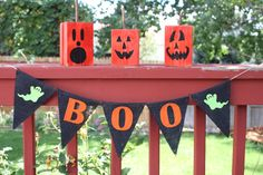 Halloween Banner, Boo Banner, Halloween Decoration, Bunting, Garland
