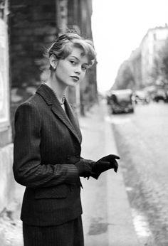 Brigitte Bardot in Paris, 1954. Photo by Georges Dambier