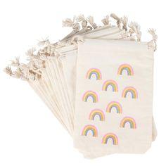 Rainbow Party Favors, Party Favor Bags, Rainbow Parties, Rainbow First Birthday, Rainbow Baby, 5th Birthday, Rainbow Theme Baby Shower, Hippie Birthday Party, Rainbow Logo