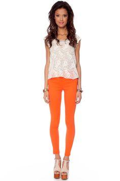 i need these orange jeggings