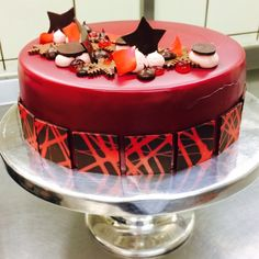 Amarene Cherry & Chocolate Entremet  #entremet #amarene #toschi #culinary #chefstalk #chocolate #cookordie #chefsofinstagram #dessert #eatdrinkliveenjoy #food  #gastroart #gastronogram #hipsterfoodies #instafood #pastry #pastrychef #patisseriechef #theartofplating #expertfoods #pastryart #wildchefs #cheflifemagazine