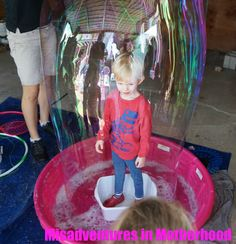 Bubble party for a three year old - www.MisadventuresinMotherhood.net