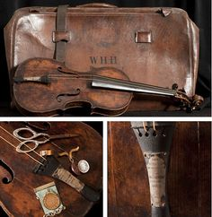 Water-stained violin proven to be the one that played Nearer my God to Thee by Wallace Hartley as the Titanic sank is found. It is the instrument that he played as the ship went down in the Atlantic, and that he later used as a buoyancy aid once Titanic went down. More to read on the page