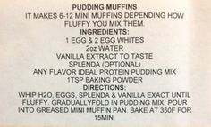 Ideal Protein Pudding Muffins