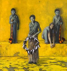 Erschlichen // Jonas Burgert // 2007 // Painting