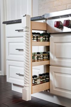 Built In Storage Space In One Of Our Latest Kitchen Designs. Visit  RemodelStressFree.