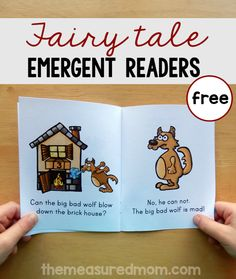 Try these free fairy tale emergent readers about the three little pigs and more! These are great for teaching sight words to students in kindergarten and first grade. #sightwords #teachingreading #kindergarten #firstgrade
