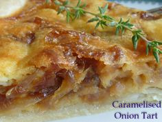 Caramelised Onion Tart * Get the recipe of TIFFIN - bite sized food adventures -