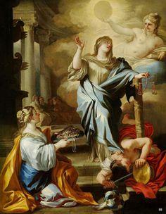Mes Images: Une allégorie de la Justice - Francesco Solimena.Italien 1657-1747.Huile / toile.
