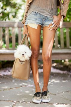 the whole look... minus the cute pup ;)