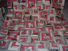 blue red and black quilt - Google Search