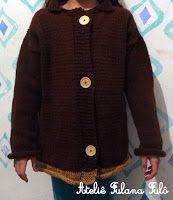 Ateliê Fulana Fulô: Casaco básico de tricô com receita