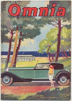 Rivista auto - OMNIA 13 copie dall'aprile 1929 all'ottobre 1935. Bella rivista con copertina a colori e con molte pagine con foto di auto e pubblicità.