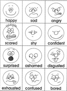 Emotions cards- Easy to draw!You can find Charts for classroom ideas and more on our website.Emotions cards- Easy to draw! Emotions Cards, Feelings And Emotions, Feelings Chart, Expressing Feelings, English Activities, Preschool Activities, Emotions Preschool, Emotions Activities, Preschool Worksheets