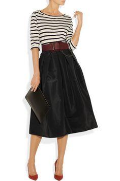 Tibi | Silk-faille midi skirt | NET-A-PORTER.COM