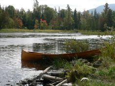 Canoe at Saranac Lake Islands Campground - NYSDEC Campgrounds