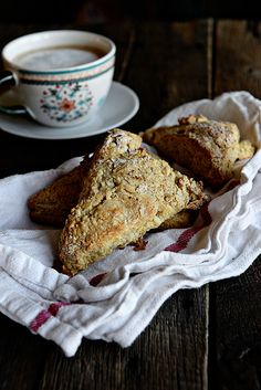 Cinnamon Sugar Maple Scones ~ For tea time or breakfast…or pretty much whenever the mood strikes, enjoy this simple Cinnamon Sugar Maple Scone Recipe on dineanddish.net