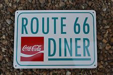 Coca Cola Route 66 Diner SIGN Soda Fountin Bar Collectable Coke Logo 7day