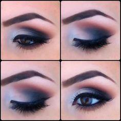 Maquillaje ojos tonos azules