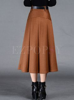 Shop for high quality Brief Pleat Pure Color Skirt online at cheap prices and discover fashion at Ezpopsy.com