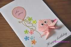 Origami Octopus Birthday Cards - Funny I Love You Cards - Boyfriend gift for girlfriend Cards.