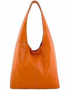25588d4826b8 Etasico Silvia Italian Leather Handbag Slouchy Orange Hobo Bag  199 on SALE   145.  EtasicoSilvia