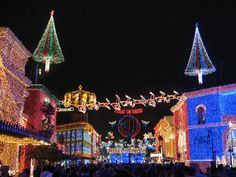Orlando, Florida. Amazing Christmas lights display at Disney's Hollywood Studios (formerly MGM Studios).