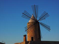 Picture Of Windmill Mallorca Solar Panel Installation, Solar Panels, Solar Powered Lamp, Advantages Of Solar Energy, Solar Water Heater, Power Generator, Sustainable Energy, Wind Power, Alternative Energy